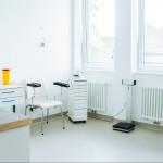 Untersuchungsraum für Blutentnahme